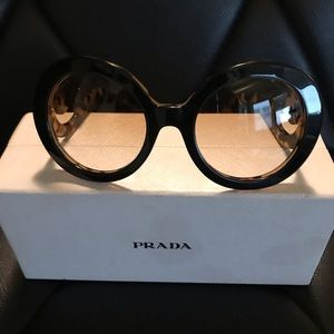 Prada Round Vintage Baroque SPR27N Sunglasses